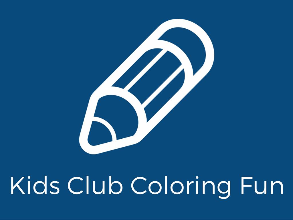 Pencil image, kids club coloring fun.
