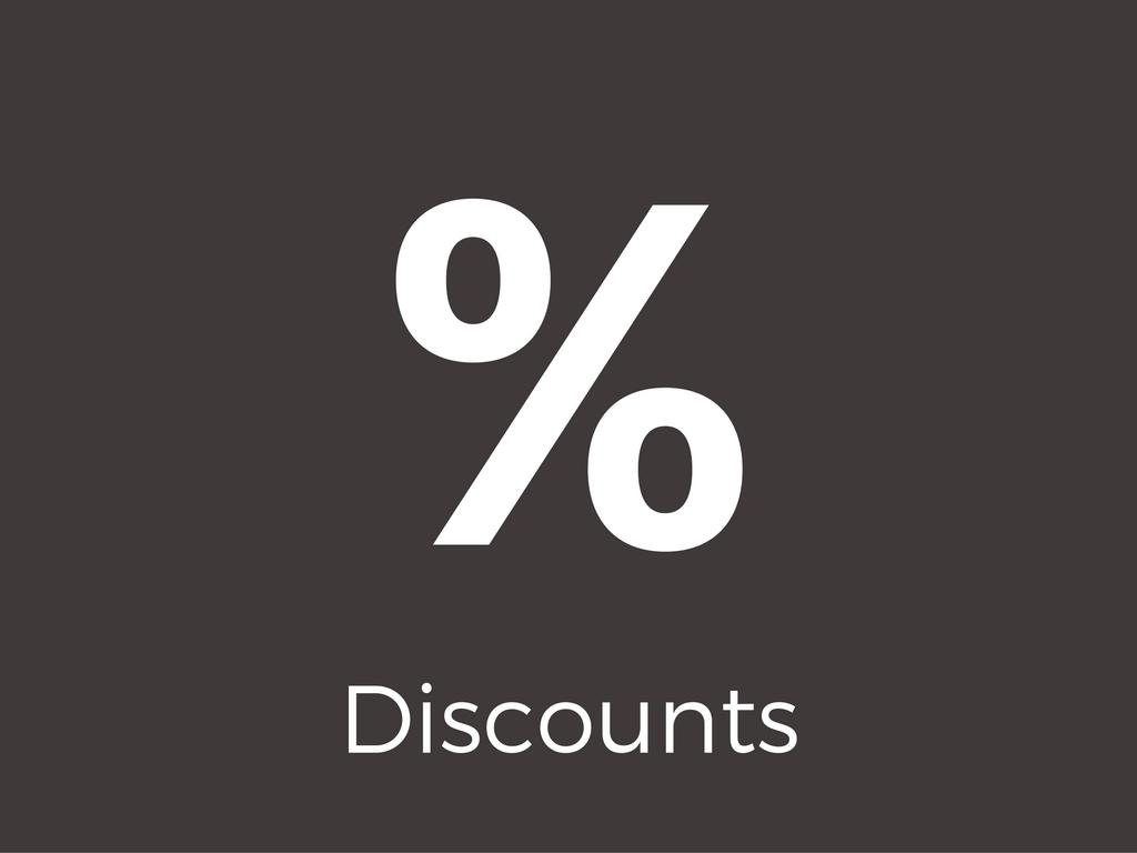 % Discounts